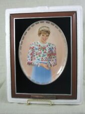 "PRINCESS DIANA - BRADFORD OVAL PLATE - 3RD - ""A TRUE PRINCESS"" FRAMED"