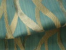 5M Soho Light Blue Spiral Jacquard Curtain Fabric £12.99/Meter