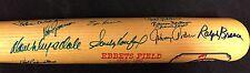 1955 Brooklyn Dodgers Autographed Ebbets Field Bat JSA LOA Sandy Koufax 29 more