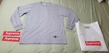 Supreme x Independent Trucks F*ck The Rest L/S Tee Gray MED NEW + Stickers + Bag