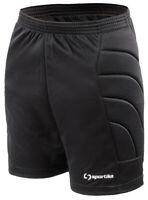 Pantalone Corto Imbottito da Portiere BLACK SPORTIKA Calcio Taglie a Scelta