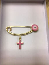 With Evil Eye Cross, 1.7 Grams Pink New listing 14K Yellow Gold Baby Safety Pin
