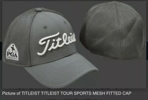 Titleist 2019 PGA Championship Bethpage Black Golf L/XL Fitted New Hat Cap Gray