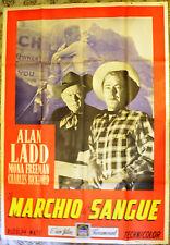 MANIFESTO ORIGINALE IL MARCHIO DI SANGUE 50 ALAN ADD Branded