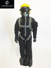 "1/6 ~ 1/5 Scale 12"" Tall Modern Jet Fighter Pilot Figure (Black / Yellow)"
