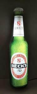 Becks Bier Leuchtreklame,  Bieflaschenoptik , Bar, Deko, ca. 60 x 16 cm, Werbung