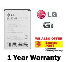 New Genuine Original Replacement Battery for LG G3 D850 851 855 BL-53YH 3000mAh