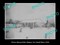 OLD LARGE HISTORIC PHOTO OF THE PORTERS RETREAT POLICE STATION NSW c1910 OBERON