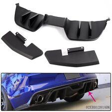Premium Black Plastic Rear Diffuser Bumper Bodykits Kits for Ford Mustang 15-17