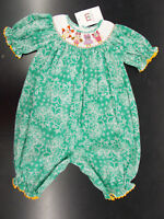 Infant Girls Mom & Me Hand Smocked Aqua 1pc Outfit Size 18 Months - 24 Months