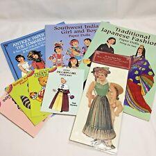 Lot Of Paper Doll Books Japanese Southwest Indian Edwardian Uncut L2