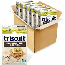 (6) 8.5 Ounce Box Triscuit Cracked Pepper & Olive Oil Crackers