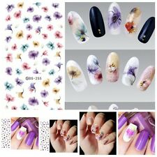 Sheet Chinese Ink Flowers Nails Art Stickers Beautiful Water Transfer Decal TOCA