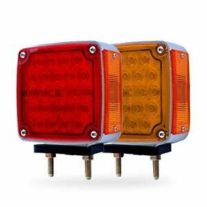 48 LED Pedestal Turn Signal Parking Stop Brake Light Mack Western Truck Trailer