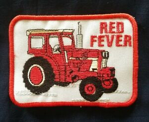 VINTAGE patch Red Fever IH Case Farmall Tractor farming agiculture