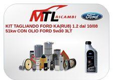KIT TAGLIANDO FORD KA(RU8) 1.2 dal 10/08 51kw CON OLIO FORD 5w30 3LT.