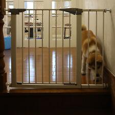 """30"""" Tall Dog Gate Walk Thru Pet Fence Baby Children Safety Adjustable Barrier"""