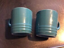 BN New 2 x Le Creuset Espresso Mugs - Turquoise / Teal - 100ml