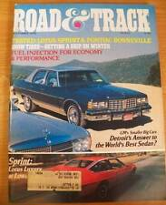 November 1976 Road & Track Magazine Lotus Sprint Pontiac Bonneville