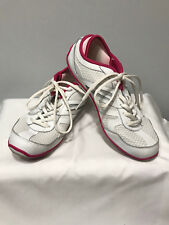 Women's Tony Little Cheeks White Pink Barefoot Fit Body Tennis Shoes Size 9