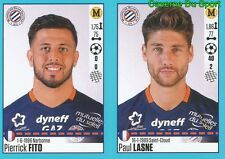 536-537 PIERRICK FITO PAUL LASNE MONTPELLIER HERAULT.SC STICKER FOOT 2017 PANINI