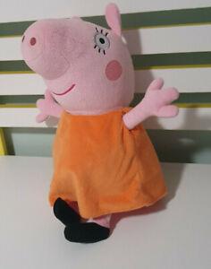 PEPPA PIG PLUSH TOY WEARING ORANGE SHIRT TY MUMMY PIG 30CM TALL!