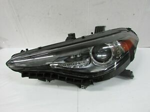 2018 2019 ALFA ROMEO GIULIA OEM LEFT BLACK OR DARK BEZEL XENON HID HEADLIGHT E1