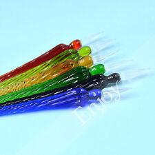 1 Pc Vintage Glass Refinement Signature Sign Pen Crystal Dip Multicolor Random