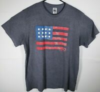Mens The North Face Backyard Project USA American Flag T-Shirt Size Large Gray