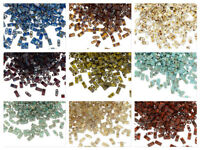 10 grams Miyuki half TILA glass seed beads 5x2.3mm Rectangle opaque Picasso