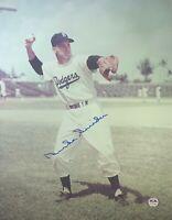Duke Snider autographed signed 11x14 photo MLB Brooklyn Dodgers PSA COA