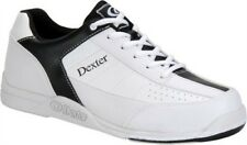 New Dexter Men's Ricky III White/Black Bowling Shoes Size 7 Universal Soles