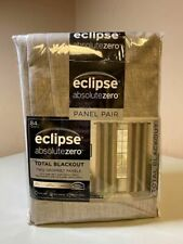 "Brand New Eclipse Absolute Zero 95"" Blackout Curtains 2-pack Taupe"