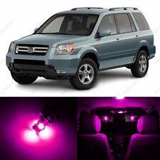 12 x Pink/Purple LED Lights Interior Package Deal For Honda PILOT 2006 - 2008