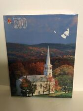 New Golden Books Jigsaw Puzzle, 500 Pieces,  Church in Fall, Countryside Church