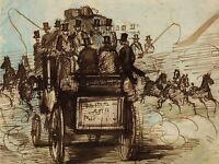 CONSTANTIN GUYS FRENCH THE BRIGHTON COACH OLD ART PAINTING POSTER BB5151A