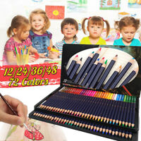 2B 12/24/36/48/72 Watercolor Pencils Set Water Soluble Color Artist Painting