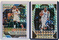 16 17 18 (2) RUSSELL WESTBROOK PANINI MOSAIC SILVER PRIZM REFRACTOR CARDS