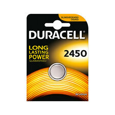 ★1 BLISTER BATTERIA A BOTTONE DURACELL CR 2450 LITIO DL2450 3 V ECR2450★