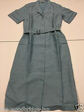BNWT DAXON SIZE 12 PALE BLUE LADIES SHORT SLEEVE DRESS WITH MATCHING BELT 8V