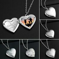 Charm Photo Frames Floating Locket Heart Pendant Necklace Jewelry Women Gift New