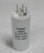 10 microfarad (10μF , 10 uF) Motor Run Capacitor, CBB60, 450VAC, 50/60Hz
