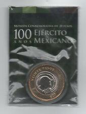 Mexico 20 Pesos 2013, Bi-Metallic Army Original Blister KM 969 UNC