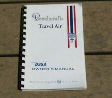 Beechcraft Travel Air Model D95A Owner's Manual Instruction Handbook