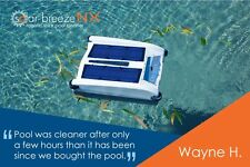 Solar Breeze NX  Robotic Solar Pool  Cleaner Pool  Leaf Skimmer  Chlorinator