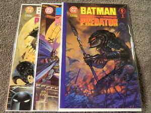 1991 DC & DARK HORSE Comics BATMAN VERSUS PREDATOR #1-3 Complete /Prestige NM/MT