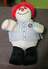 Chicago Cubs Christmas Snowman Collectible MLB 15-inch Tall Plush NWT