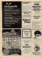 Barclay James Harvest Mungo Jerry Jericho Jones show ad Time Out cutting 1971