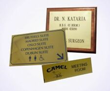 Customized Engraved Solid Polished Brass Name Plate Sign Plate Machine Name