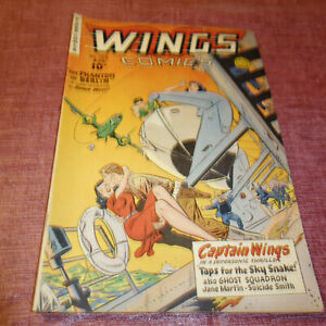 Wings Comics #108 Golden Age Fiction House AUGUST 1949 (kf)